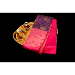 Blue & Rose Mixed Cotton Sarees
