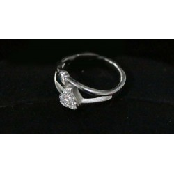 SILVER PAIRED HEART RING