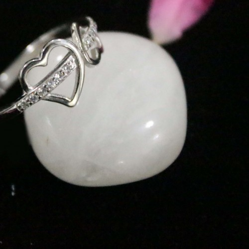 SILVER SMALL HEART RING